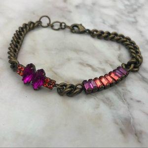 Chloe + Isabel Crystal Baguette Bracelet (Pink)